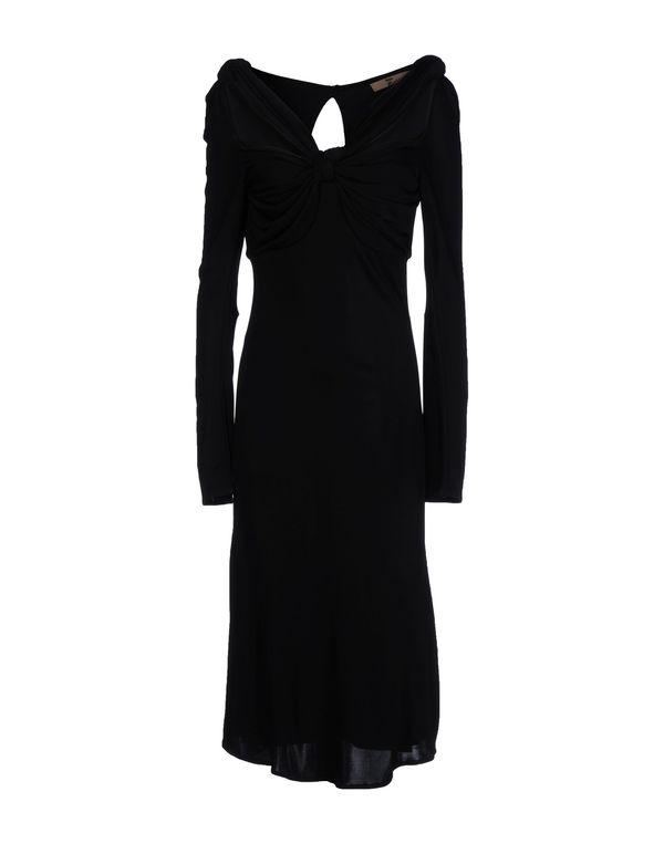 黑色 JOHN GALLIANO 及膝连衣裙