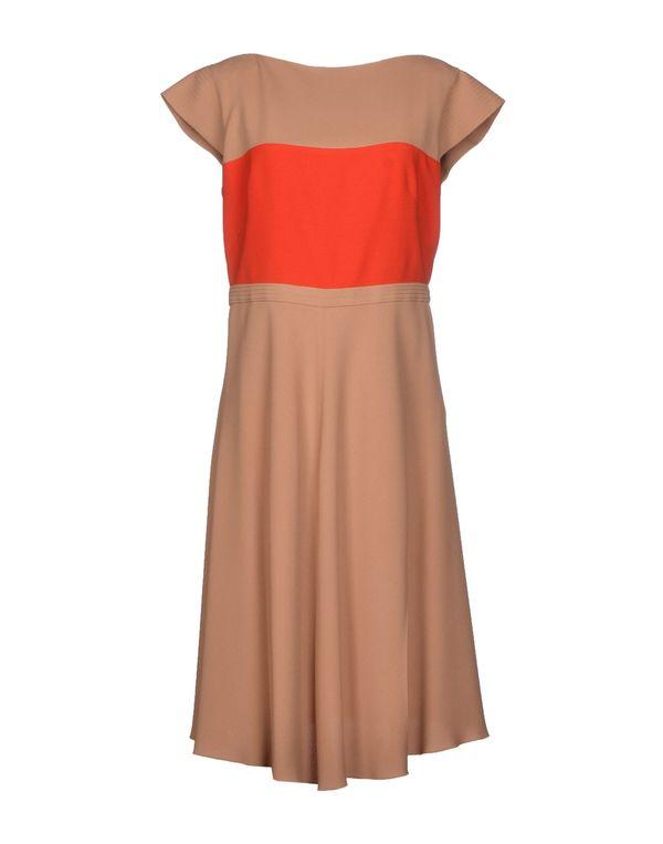 驼色 AQUILANO-RIMONDI 及膝连衣裙