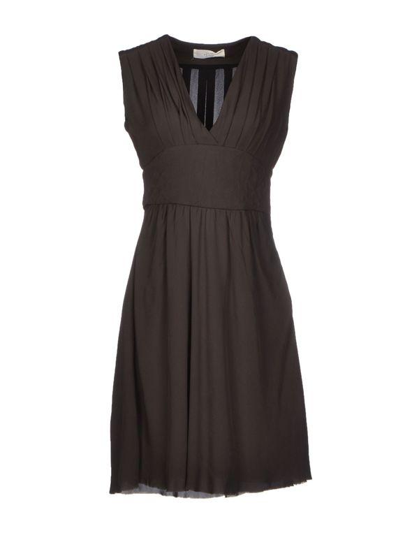 深棕色 MAURO GRIFONI 短款连衣裙
