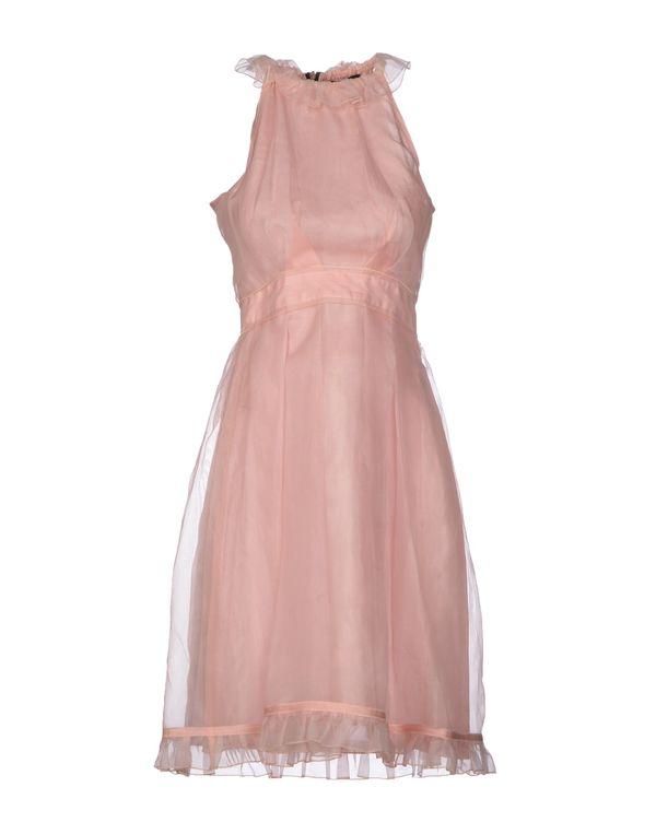 浅粉色 D&G 及膝连衣裙