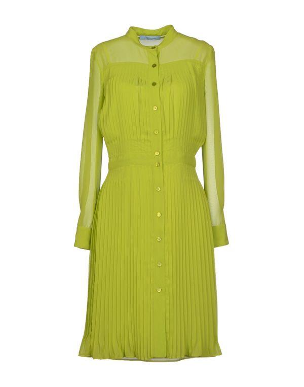荧光绿 BLUMARINE 及膝连衣裙