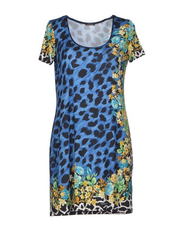 蓝色 VERSACE 短款连衣裙