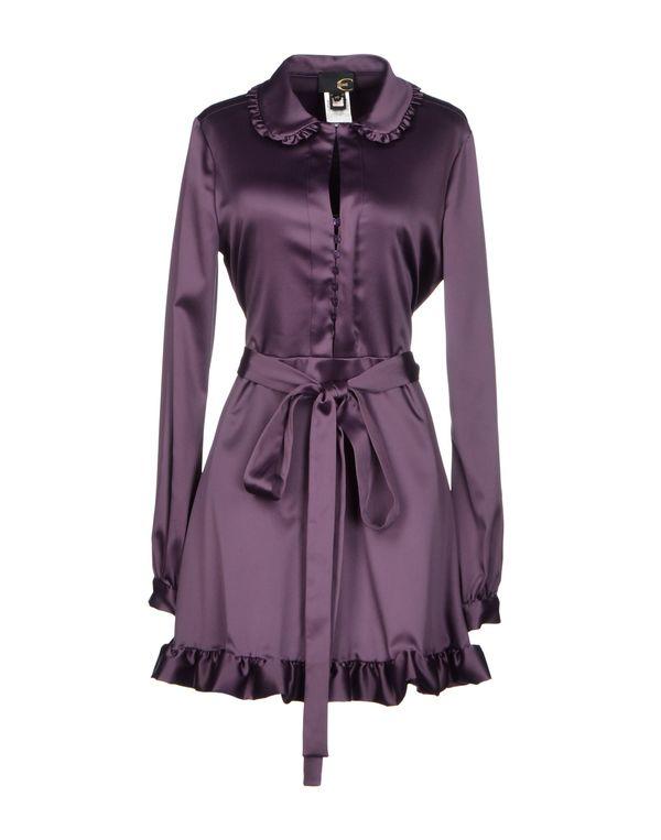 深紫色 JUST CAVALLI 短款连衣裙