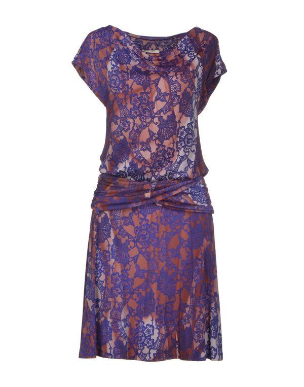 紫色 SCERVINO STREET 及膝连衣裙