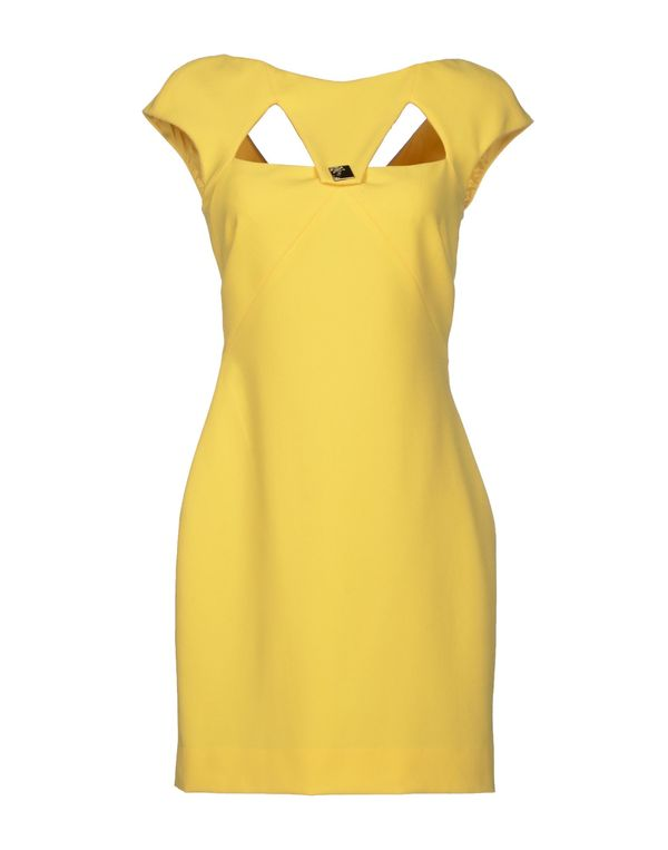 黄色 VERSACE COLLECTION 短款连衣裙