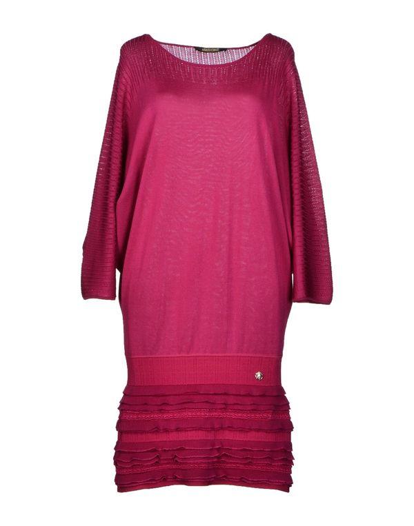 玫红色 ROBERTO CAVALLI 短款连衣裙