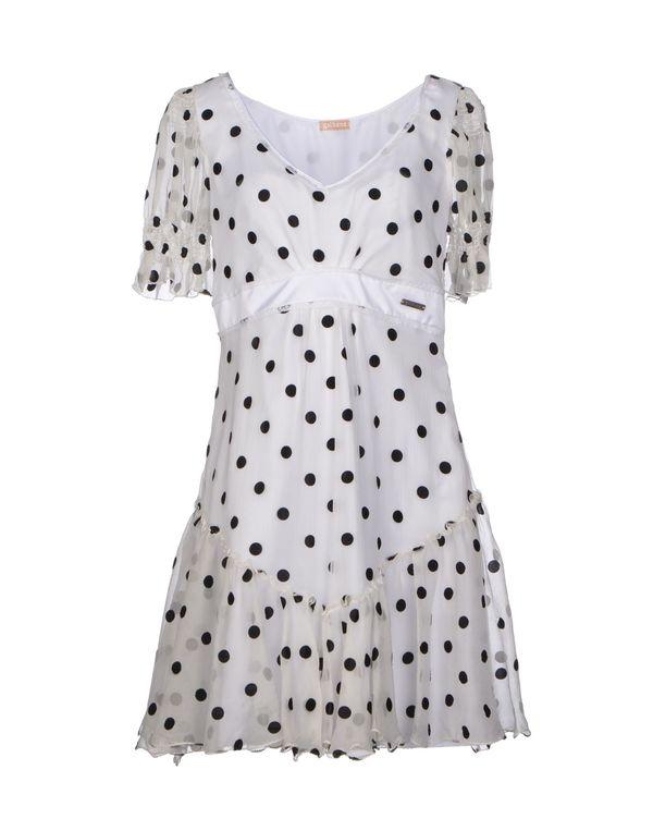 白色 GALLIANO 短款连衣裙