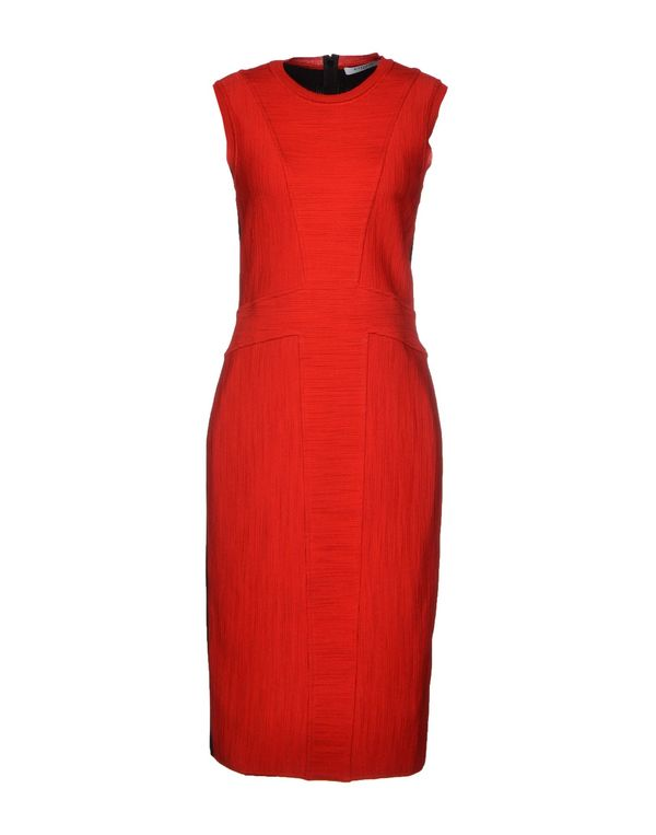 红色 GIVENCHY 及膝连衣裙