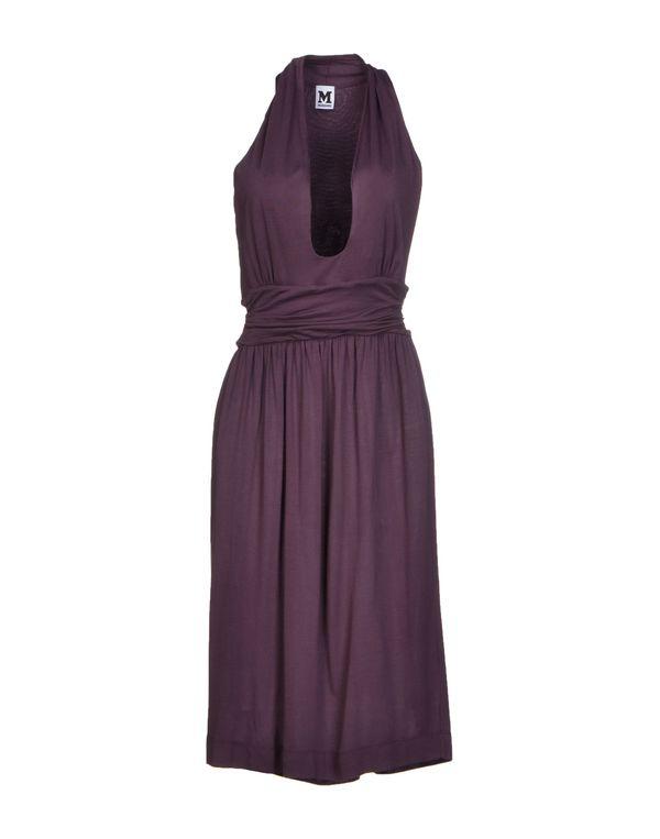 深紫色 M MISSONI 及膝连衣裙