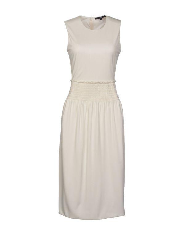 白色 GUCCI 及膝连衣裙