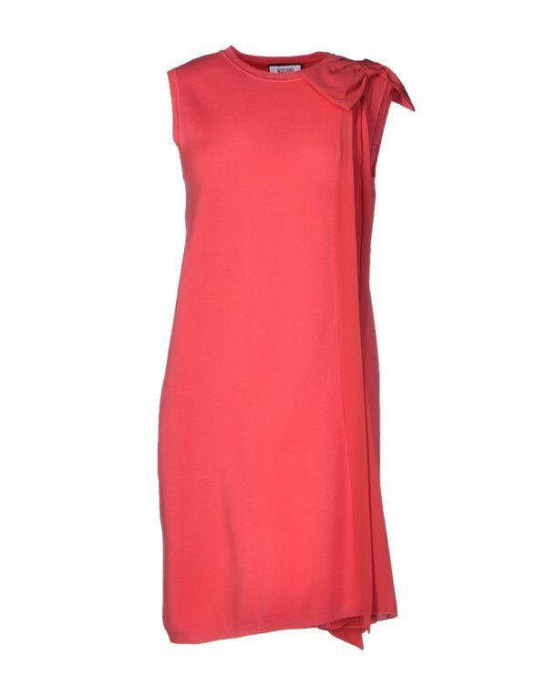 玫红色 MOSCHINO 短款连衣裙