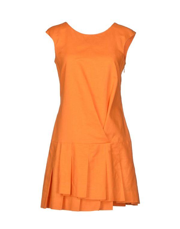 橙色 SCERVINO STREET 短款连衣裙