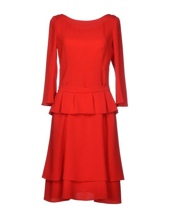 红色 PRADA 及膝连衣裙