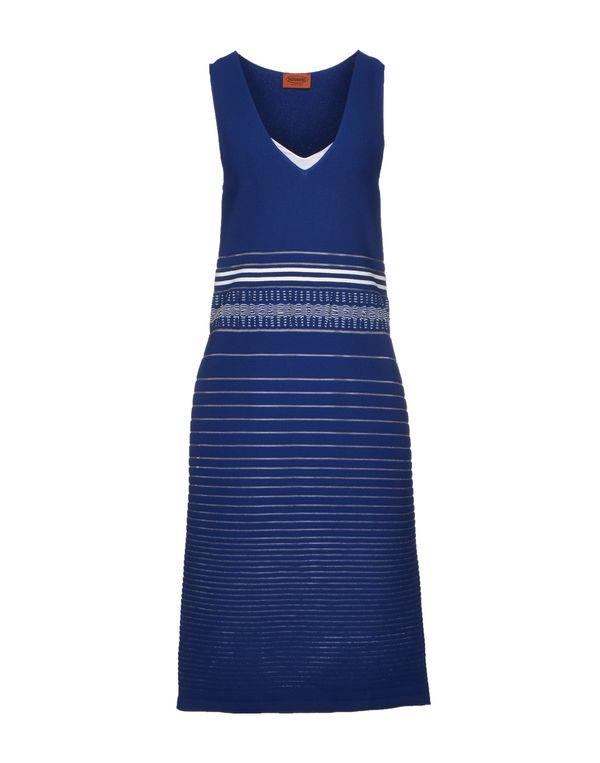 蓝色 MISSONI 及膝连衣裙