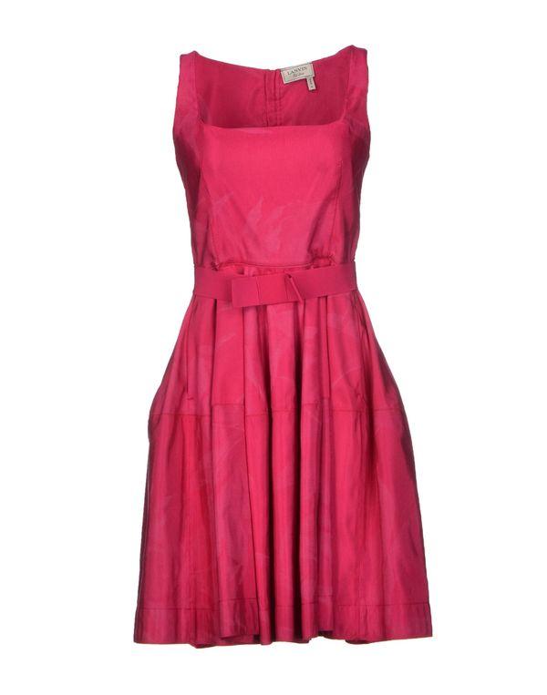 玫红色 LANVIN 短款连衣裙