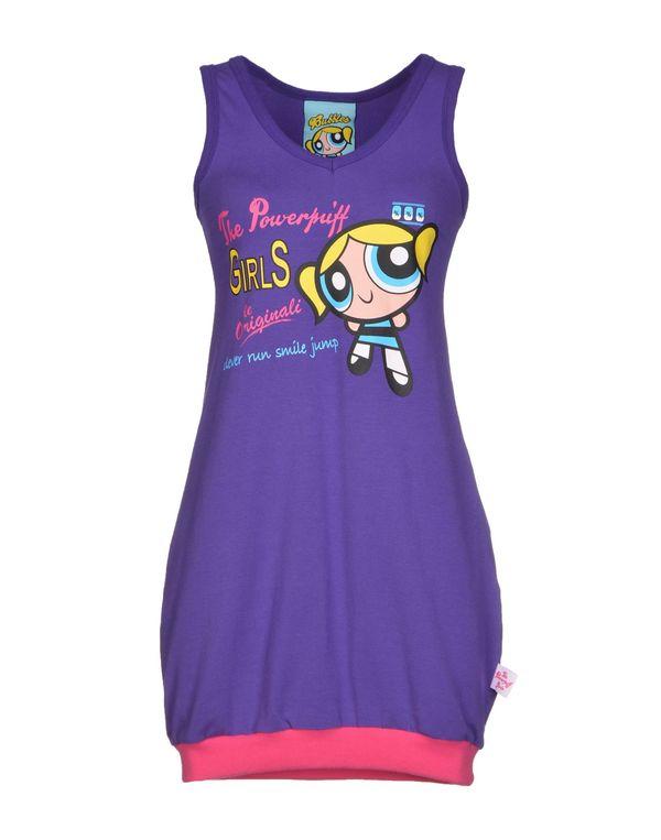 紫色 ATELIER FIXDESIGN 短款连衣裙