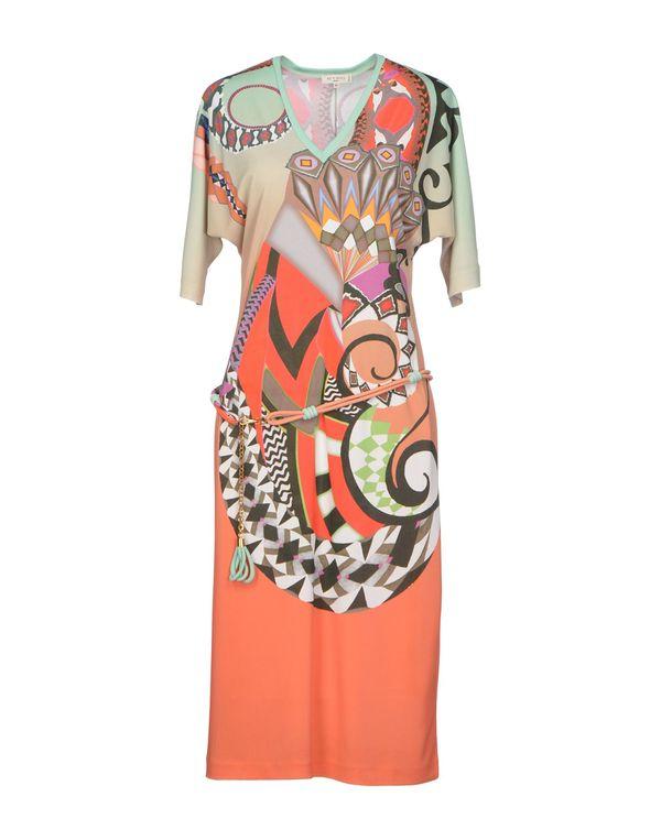 橙色 ETRO 及膝连衣裙