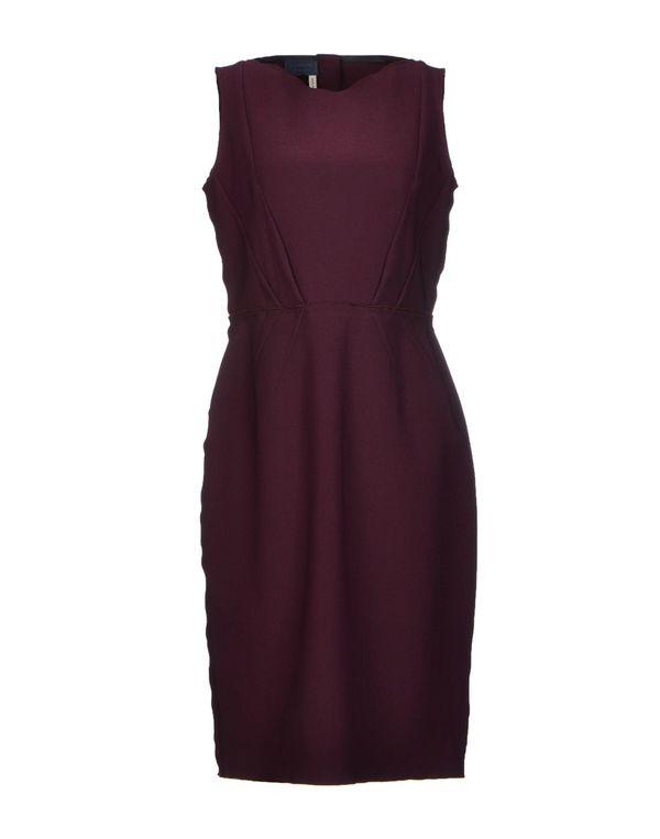 深紫 LANVIN 及膝连衣裙