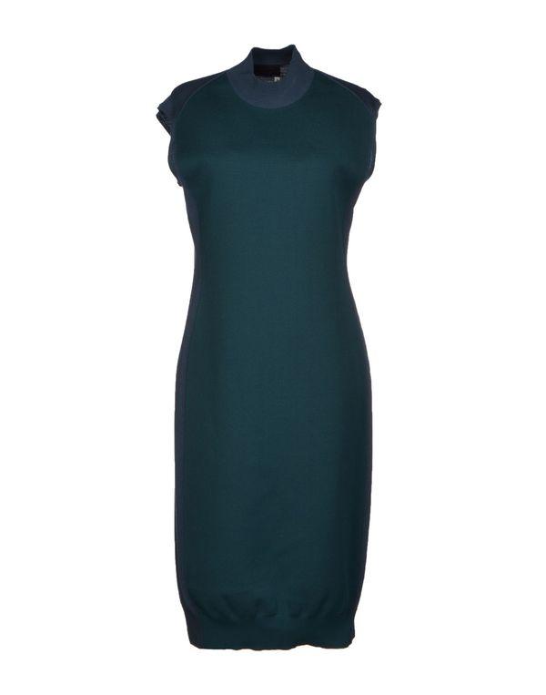 孔雀绿 LANVIN 及膝连衣裙