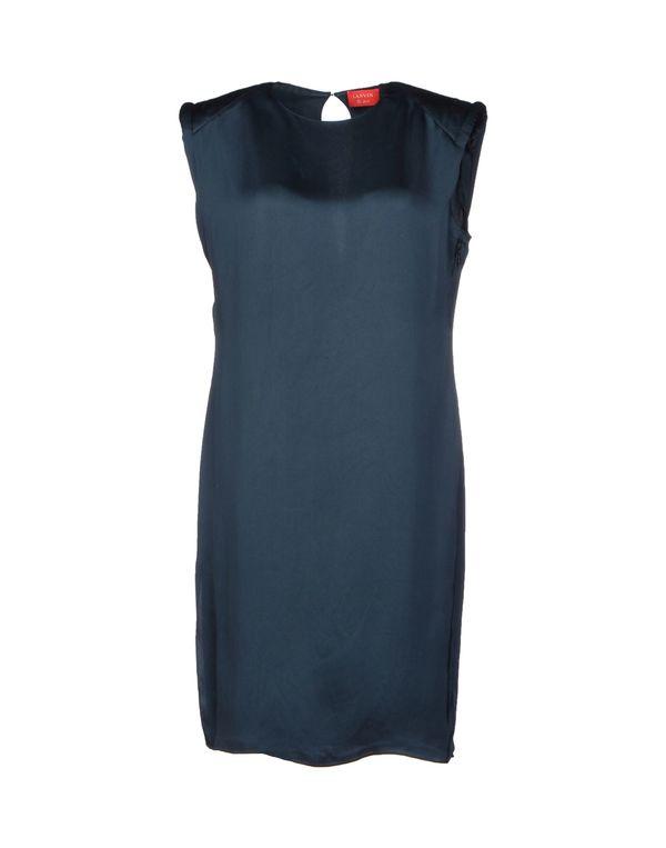 孔雀绿 LANVIN 短款连衣裙