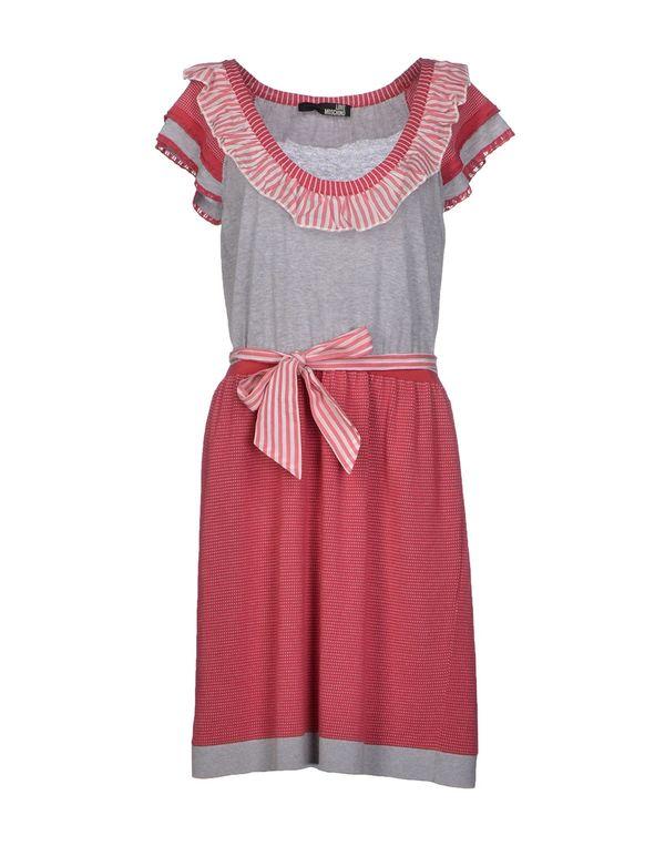 石榴红 LOVE MOSCHINO 短款连衣裙