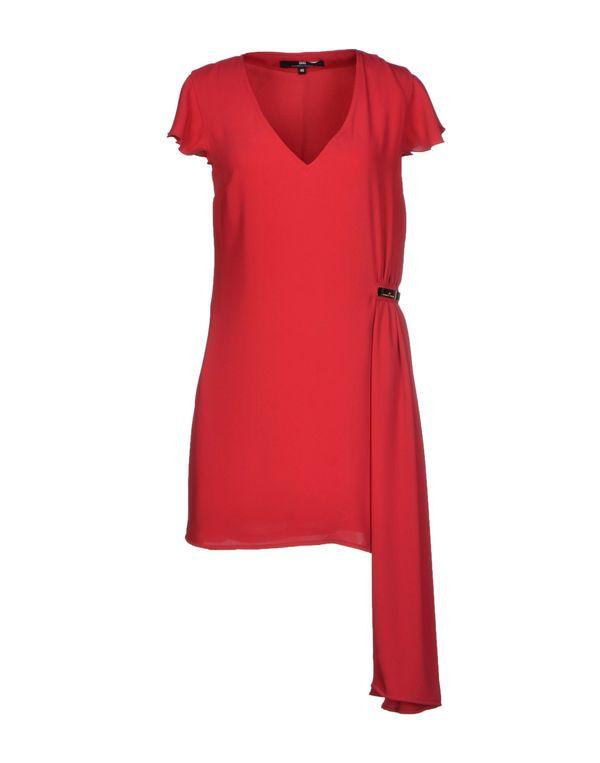 红色 ELISABETTA FRANCHI 短款连衣裙