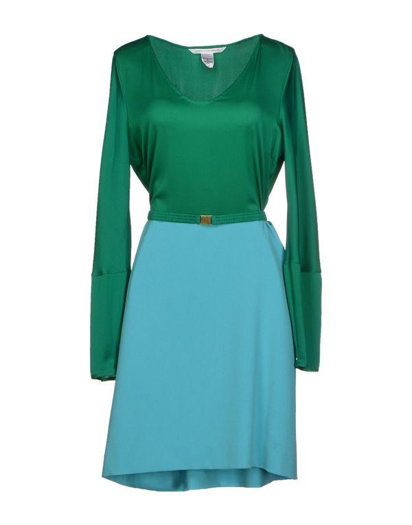 绿色 DIANE VON FURSTENBERG 短款连衣裙