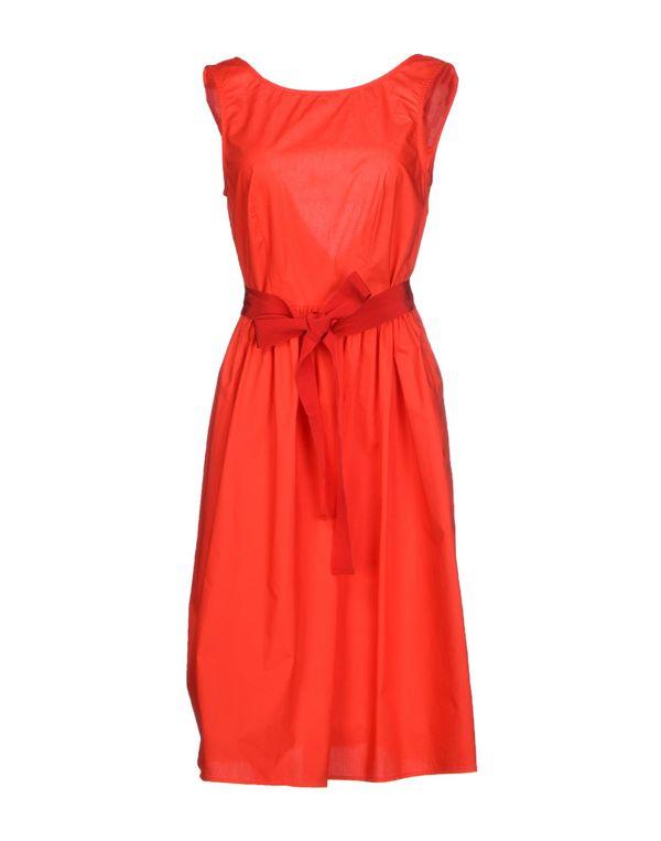 红色 P.A.R.O.S.H. 及膝连衣裙