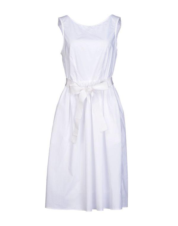 白色 P.A.R.O.S.H. 及膝连衣裙