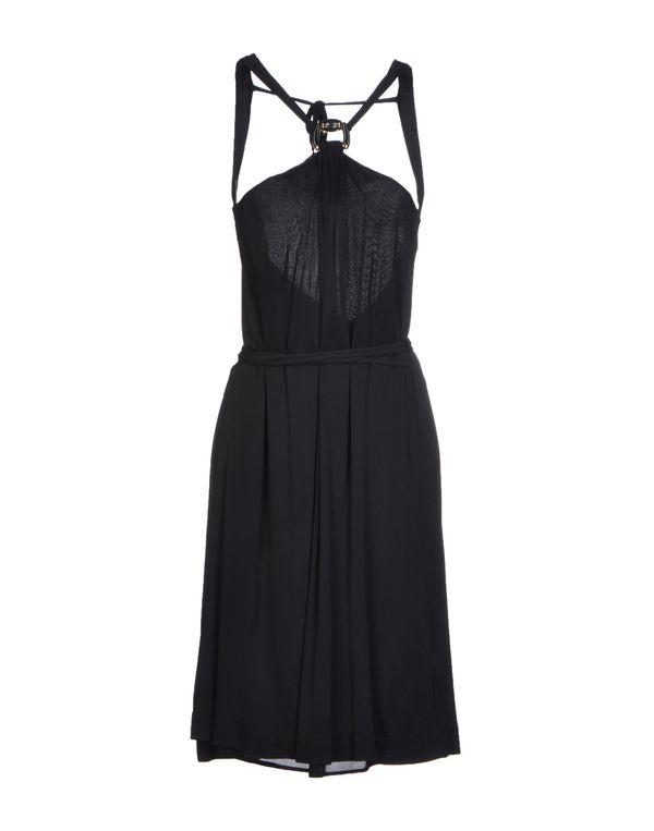 黑色 GUCCI 及膝连衣裙