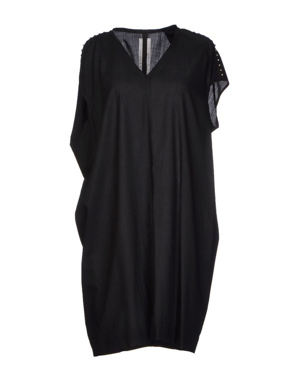 黑色 RICK OWENS 短款连衣裙