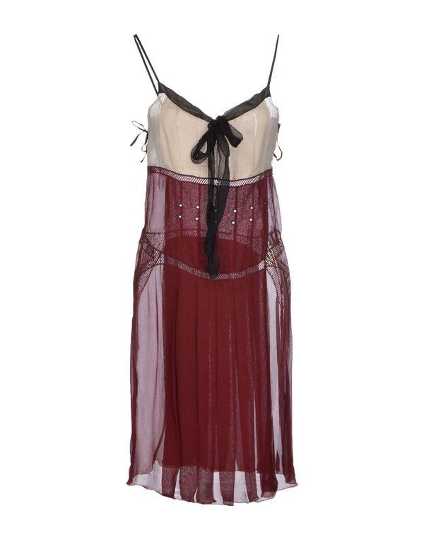波尔多红 PRADA 短款连衣裙