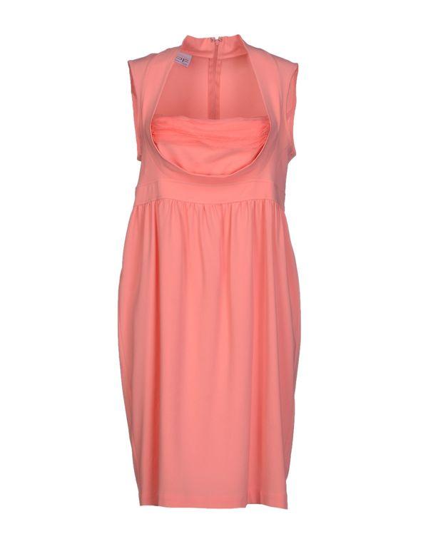 粉红色 PF PAOLA FRANI 及膝连衣裙