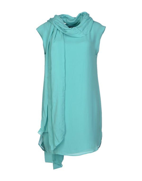 蓝绿色 RALPH LAUREN 短款连衣裙