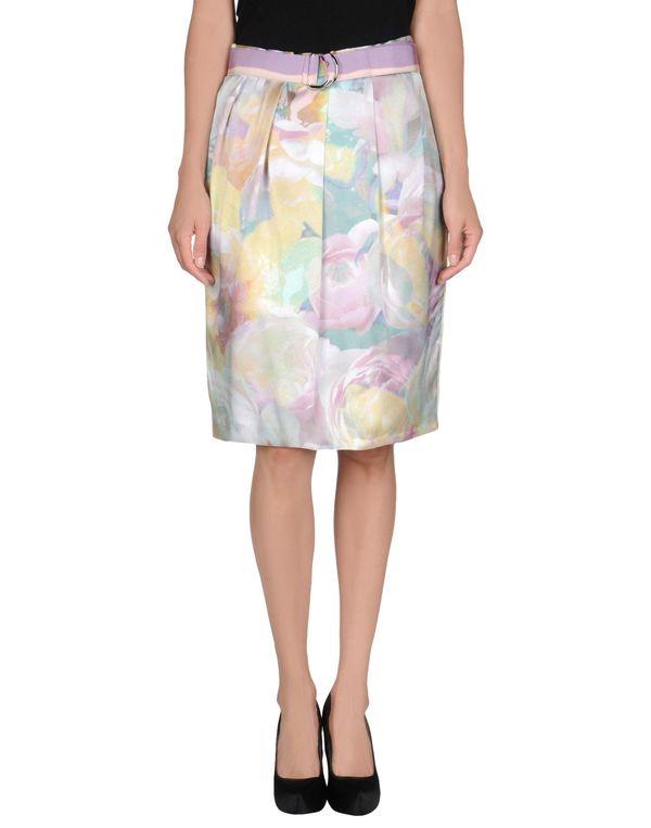 丁香紫 MOSCHINO CHEAPANDCHIC 及膝半裙