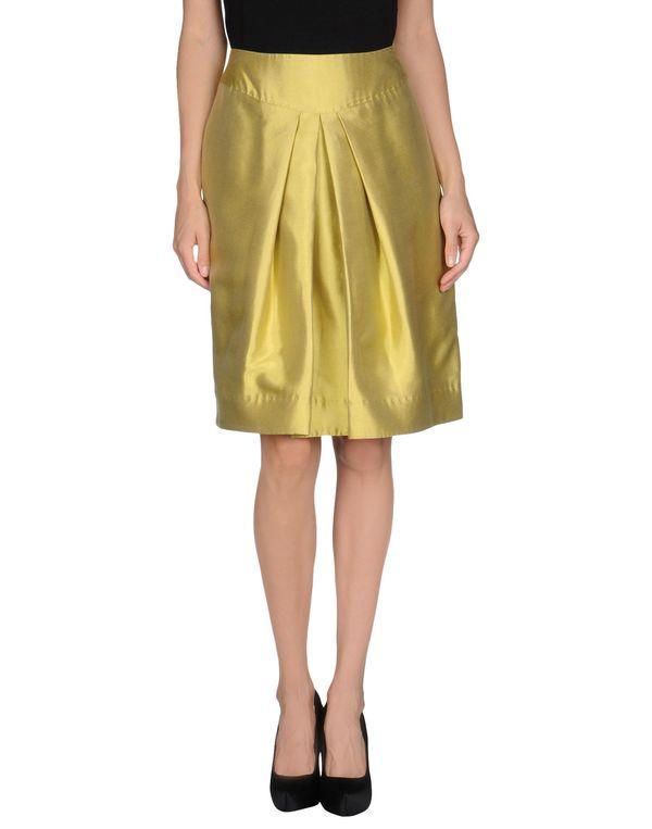 荧光绿 MOSCHINO 及膝半裙