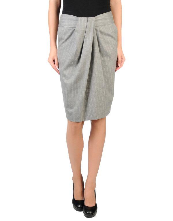灰色 MALO 及膝半裙