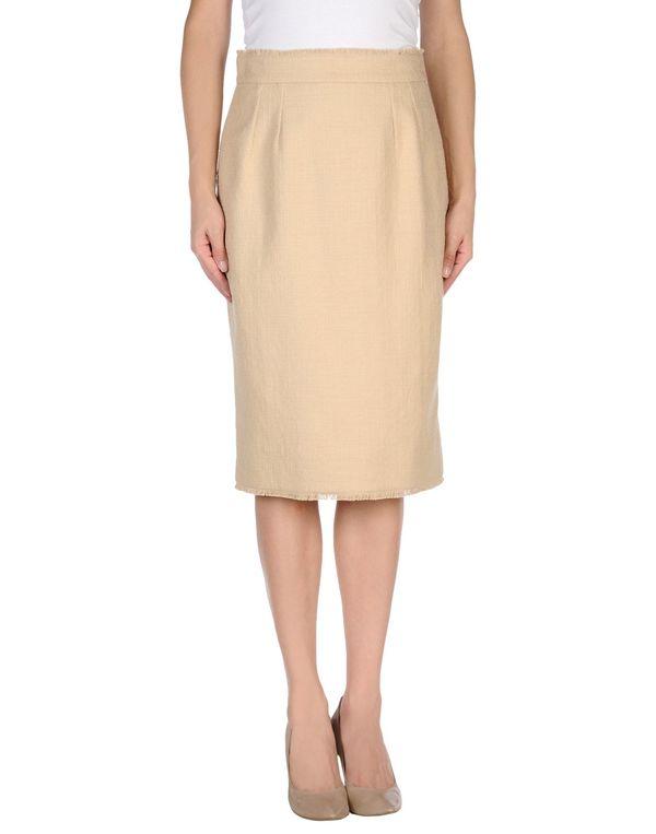 米色 DOLCE & GABBANA 及膝半裙