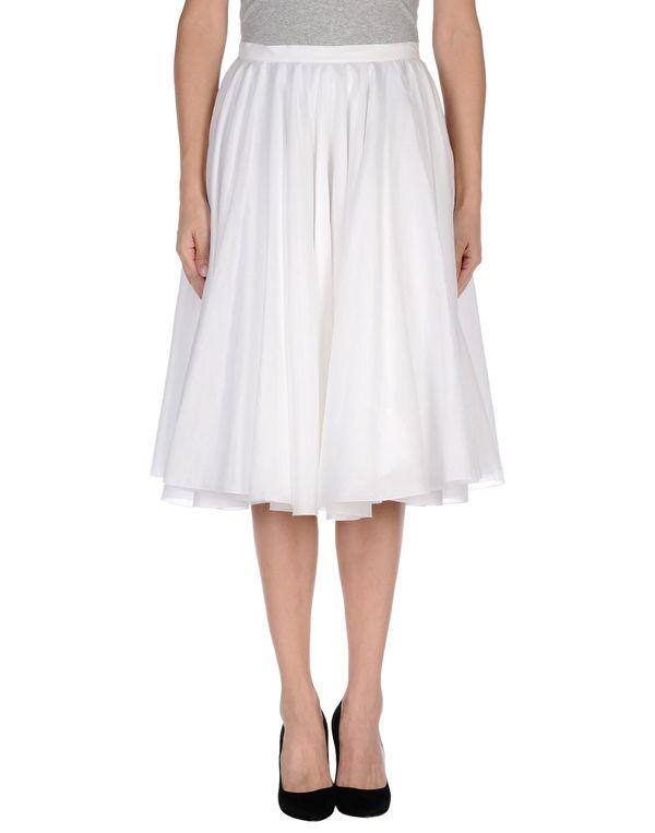 白色 JIL SANDER 及膝半裙