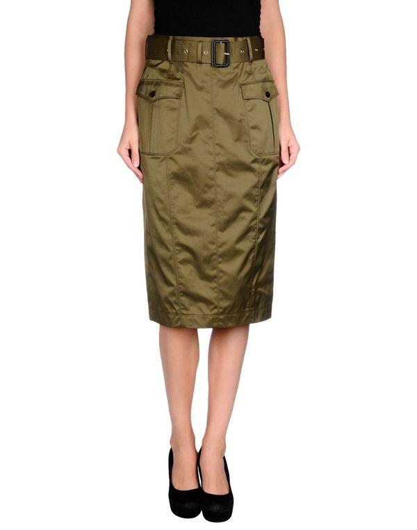 军绿色 BURBERRY LONDON 半长裙