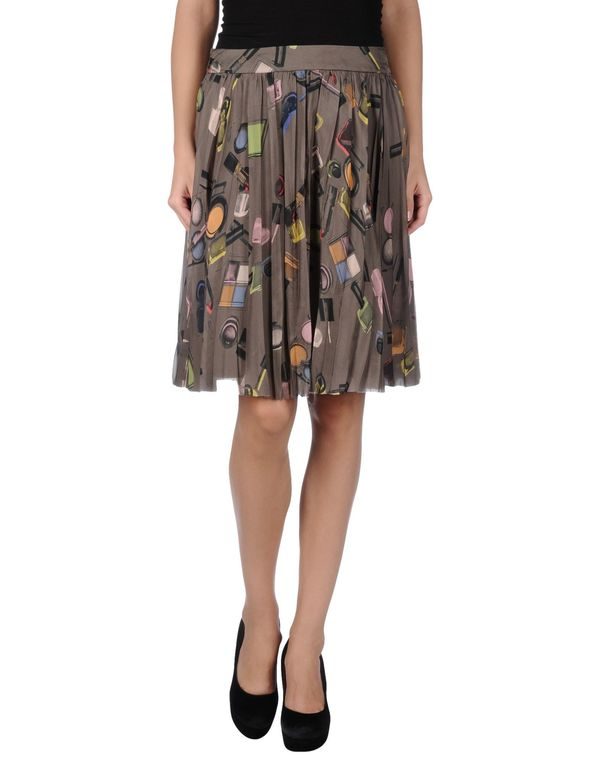 深棕色 MOSCHINO CHEAPANDCHIC 及膝半裙