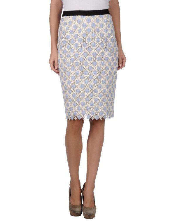 白色 MOSCHINO CHEAPANDCHIC 及膝半裙