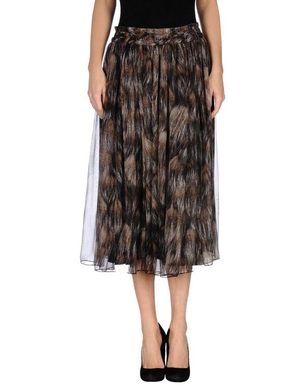 深棕色 DOLCE & GABBANA 半长裙