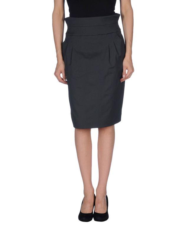 铅灰色 ARMANI COLLEZIONI 及膝半裙