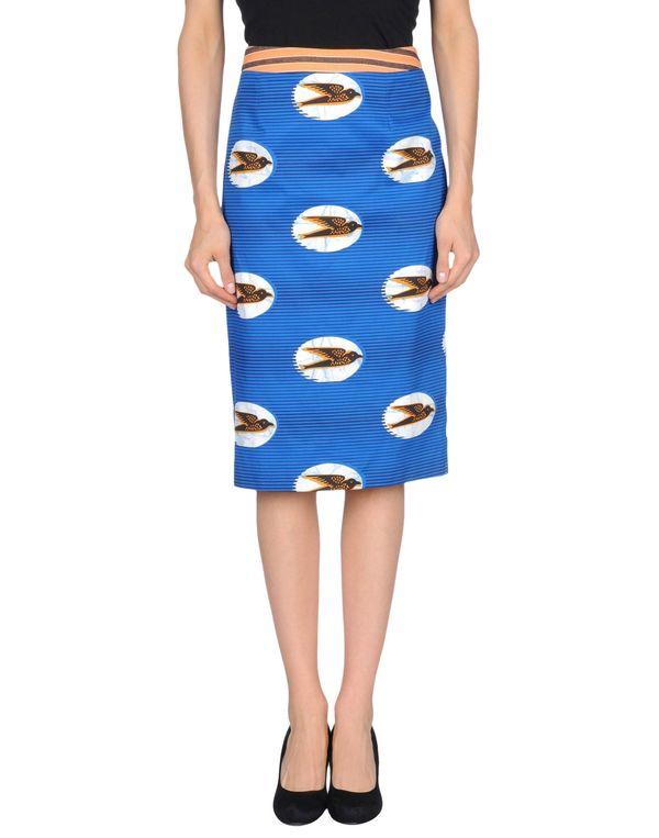 蓝色 STELLA JEAN 及膝半裙