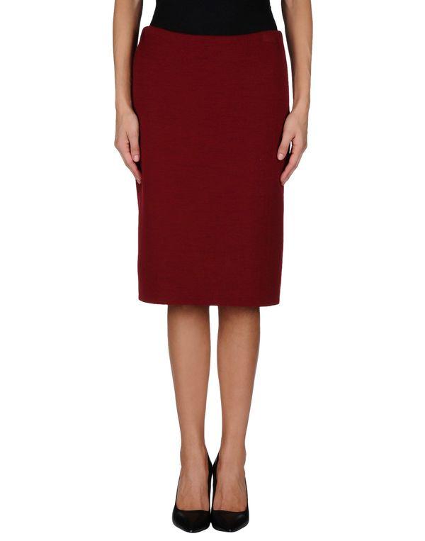 波尔多红 LANVIN 及膝半裙