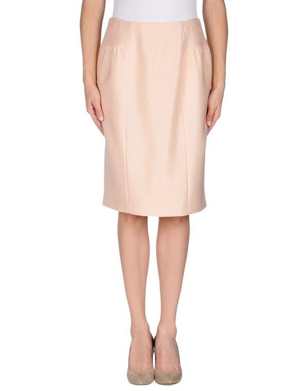 粉红色 MOSCHINO 及膝半裙