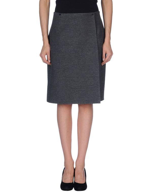铅灰色 LANVIN 及膝半裙