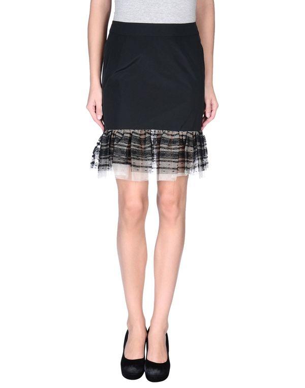 黑色 REDVALENTINO 及膝半裙