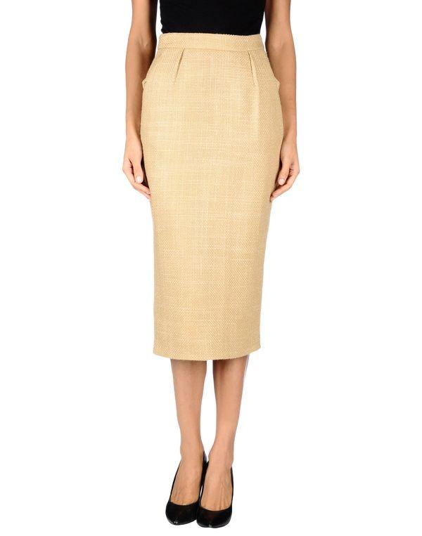 沙色 YVES SAINT LAURENT 半长裙